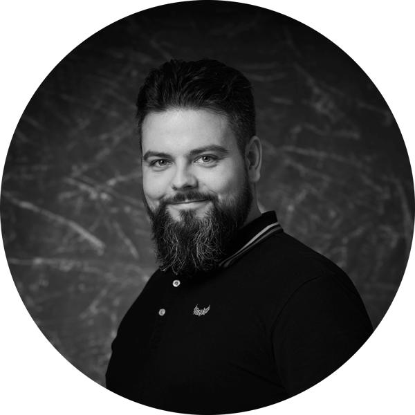 Autoportrait Simon Lagoarde, noir et blanc
