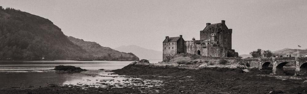 Eilean Donan Castle, Écosse, slow photography avec un Xpan