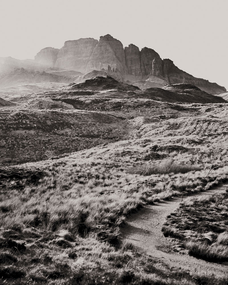 The Old Man of Storr, Écosse, slow photography avec utilisation d'une chambre 8x10
